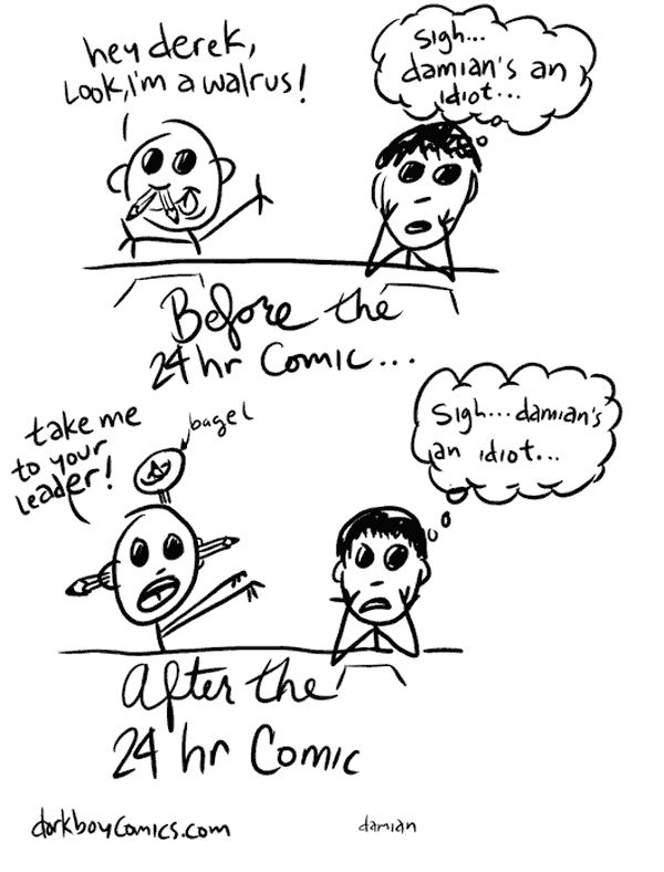 the 24 hour comic – before & after