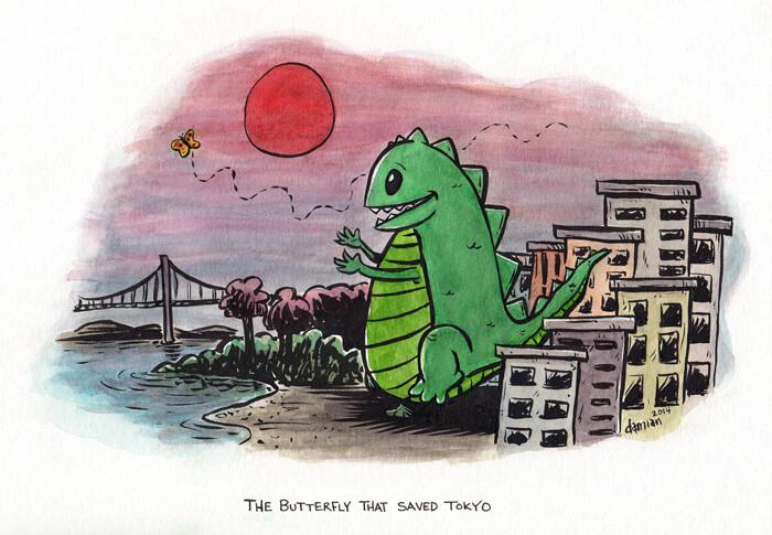 Godzilla vs Lepidopteran!