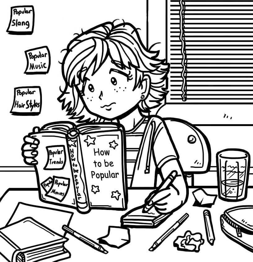 Dork Diaries Nikki Coloring Pages Coloring Pages