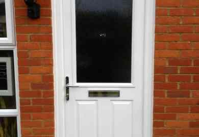 White Front Entry Door