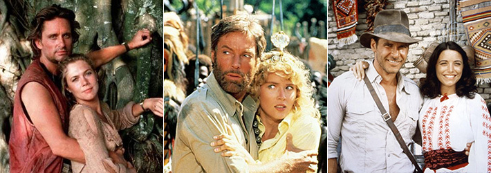 Romancing the Stone King Solomon's Mines Raiders of the Lost Ark