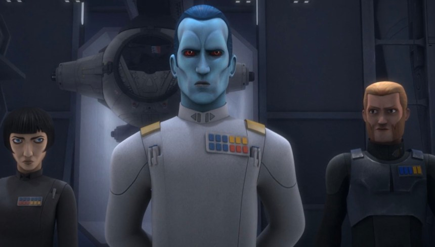 Thrawn, Goveronor Pryce, and Agent Kallus in An Inside Man