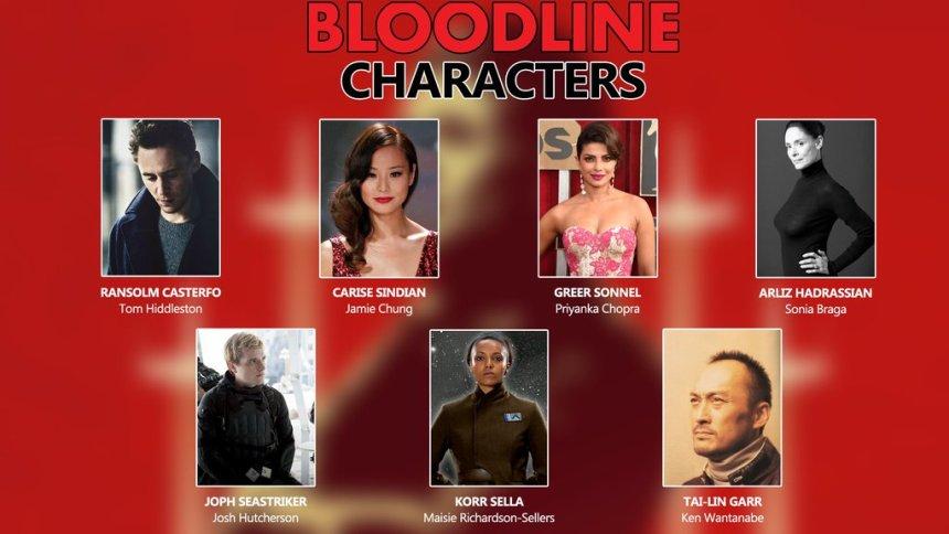 Author Claudia Grey's Bloodline Fan Casting
