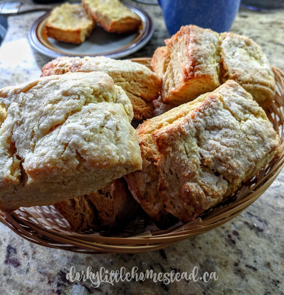 A basket of scones
