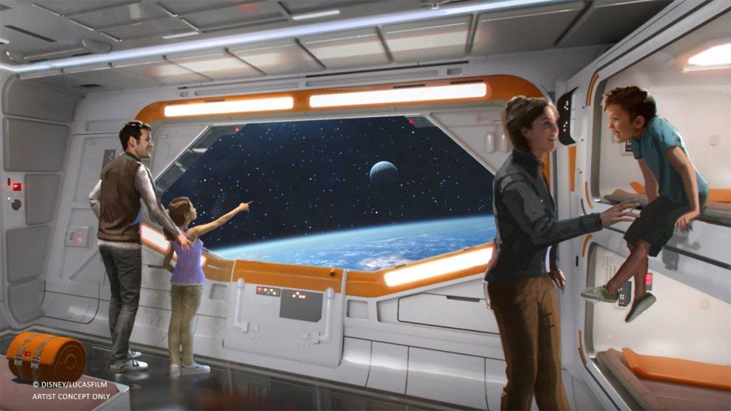 star wars: starcruiser cabin windows