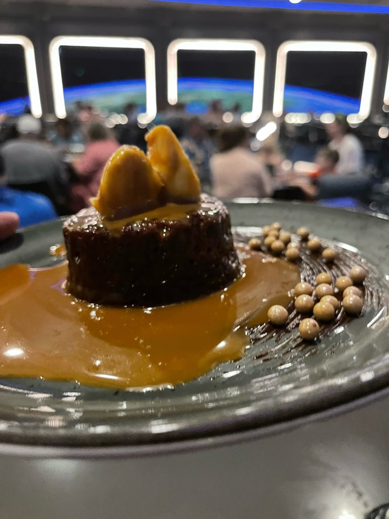 Space 220 sticky toffee pudding cake