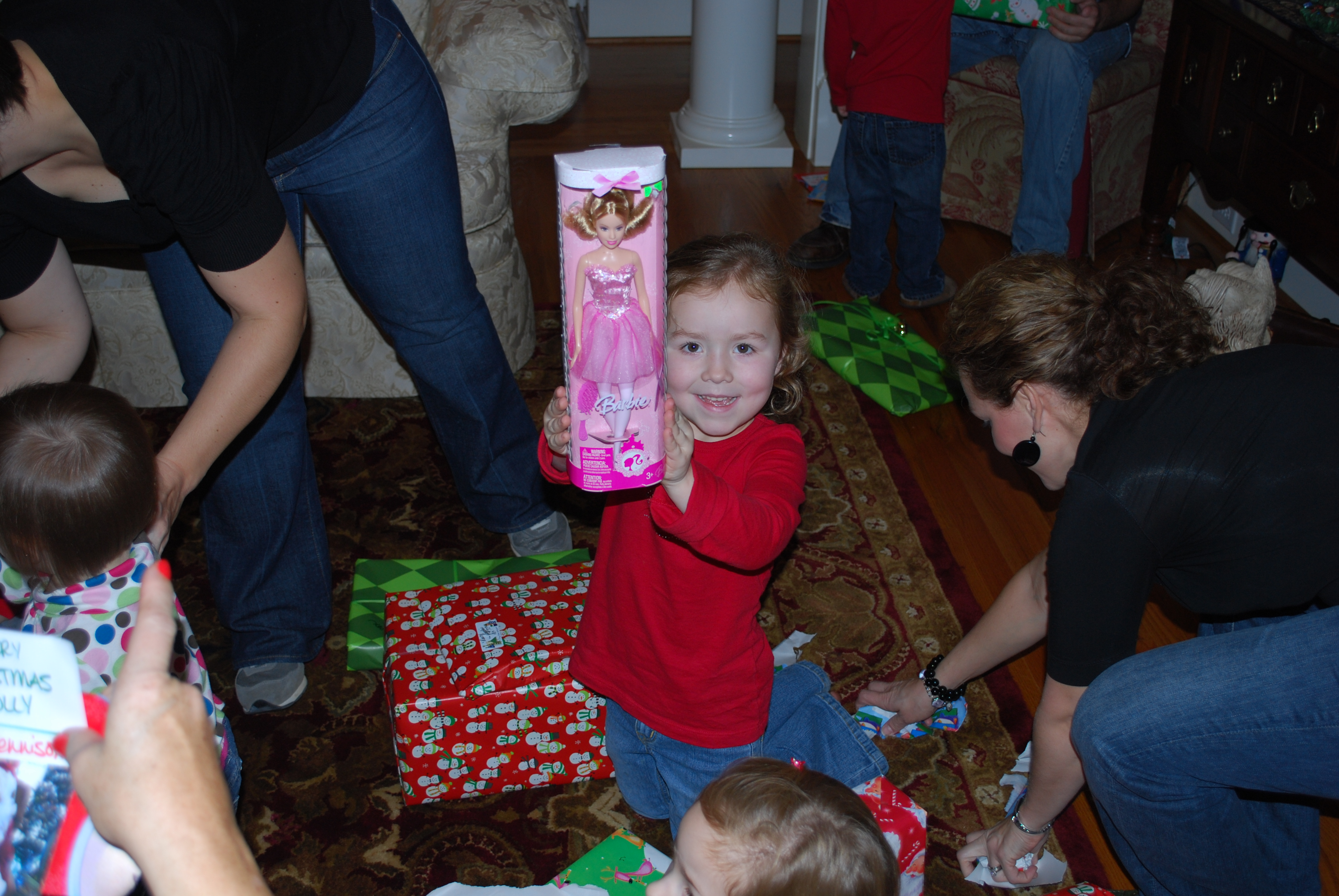 Ruby got a Barbie from Aunt Cacy