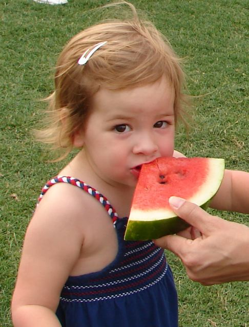 Nothin' says summer like watermelon on the 4th of July!!!