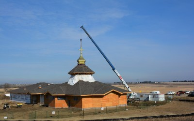 VIDEO: Installation of the Gold Dome Cap and Cross at St. Sophia Parish