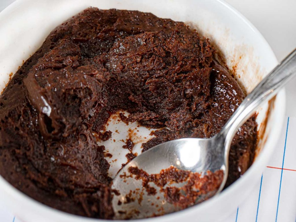 microwave flourless nutella cake