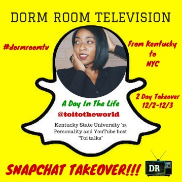 """""""A Day In The Life"""" Dorm Room Television Snapchat Reality show"""