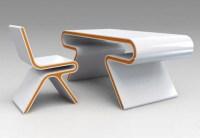 Futuristic Furniture: Ultramodern Desk & Chair Design Set