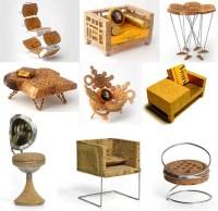 Miniature Art Furniture: Creative Recycled Cork Designs