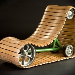 Bent Wood Rocking Chair White Outdoor Chairs Rolling Beats Rocking: Clever Tank Tread Design