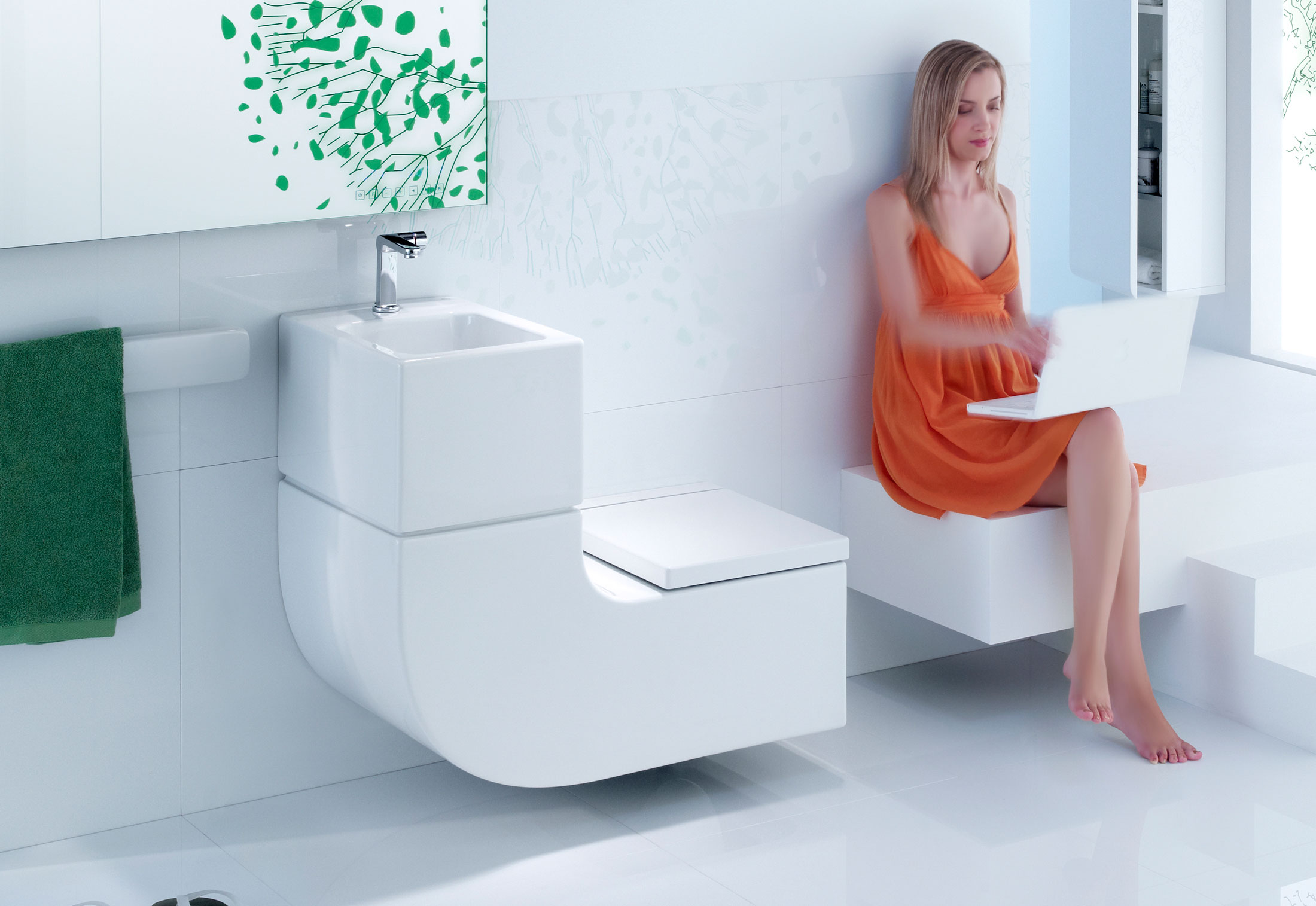 space saving sink and toilet combo