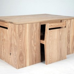 Table Chair Set The Unusual Company Chichester Transforming All In One Wooden And Chairs