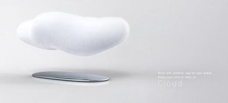 Futuristic Furniture Design Floating Cloud Couch Concept
