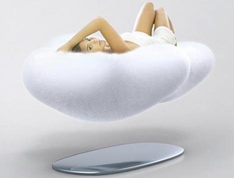 Futuristic Furniture Design Floating Cloud Couch Concept