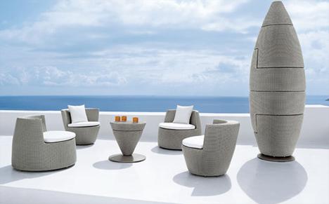 Outdoor Obelisk Stackable Patio Furniture Designs