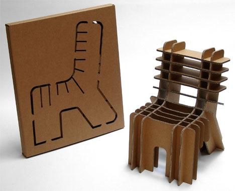 FlatPack Furniture EcoFriendly Cardboard Chair Designs