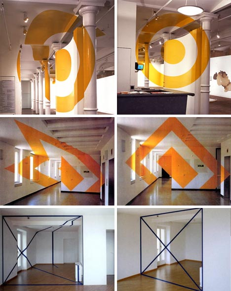 Stair Wall Art Interior Design + Wall Art = Incredible Optical Illusions
