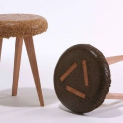 Funky Wooden Chairs Bamboo Folding Cool Stools Wood Sawdust Upcycled Into Furniture
