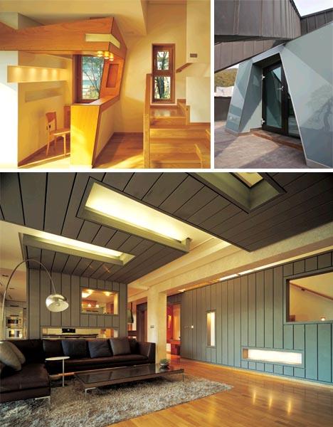 InsideOut House Angular Interior  Exterior Home Design  Designs  Ideas on Dornob