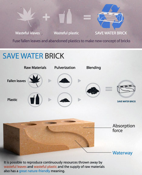 eco recycled brick idea
