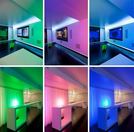 colorful cinema style interior design