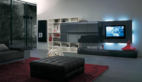 living room furniture with storage black and white design for space making 7 layouts