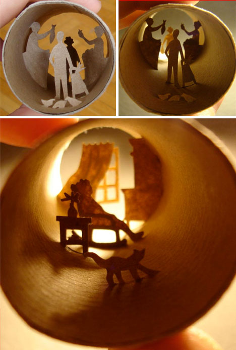 Incredible Collages Crafted Inside Of Tiny Toilet Paper