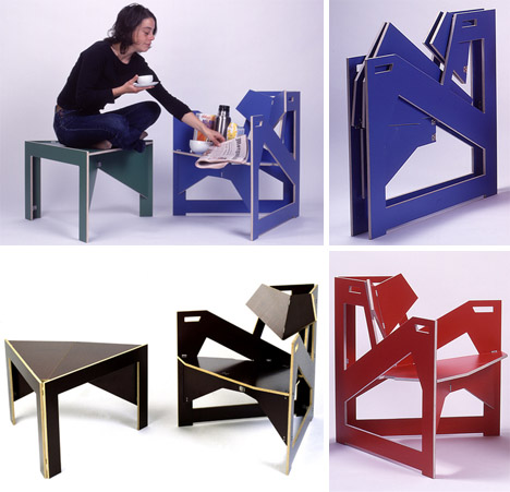 Flat Packed Furniture Features Tool Free DIY Construction