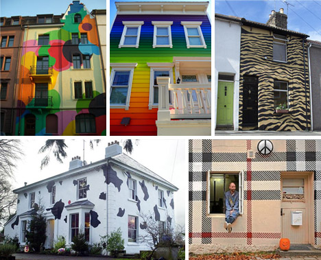 Cool Colors 10 Crazy Painted Houses & Home Painting Ideas