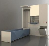 Small Bathroom, Big Idea: Space-Saving Fold-Out Fixtures
