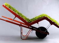 Living Lawn Chair: Grass-Cushioned Outdoor Chaise Lounge