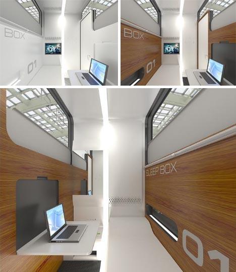Sleep Box Modular Office Pod  BusinessTravel Bedroom