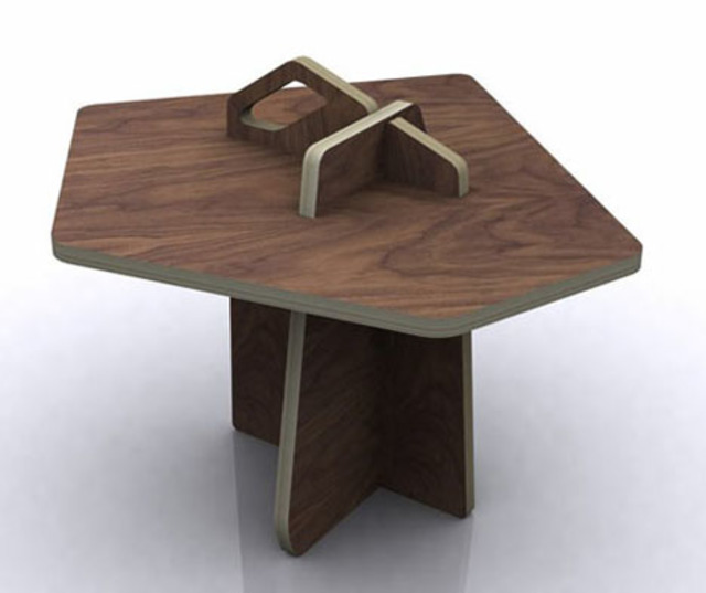puzzle piece plywood furniture ideas