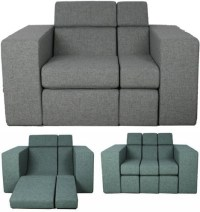 Combo Couch: All-in-One Lounger, Love Seat + Sofa Bed