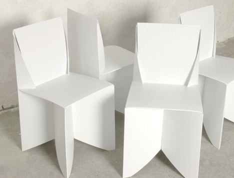 white lawn chairs plastic ergonomic ball office chair origami style: paper-thin, patio-ready folding