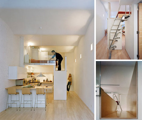 Loft Bed Turns Single Floor Studio To Two Level Apartment