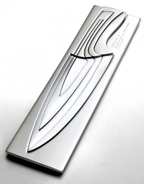 cheap stainless steel kitchen appliances how to decorate a table nesting chef's knives: scary-but-clever cutlery set