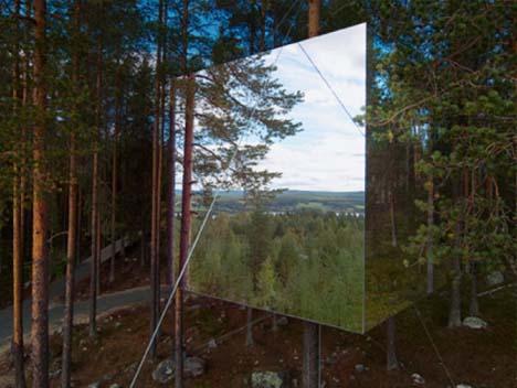 Thin Air 6Sided Mirror Cube Tree Hotel Hangs in the Sky  Designs  Ideas on Dornob
