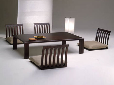 japanese table and chairs ethan allen dining chair slipcovers floor furnitures japan style room tables sitting