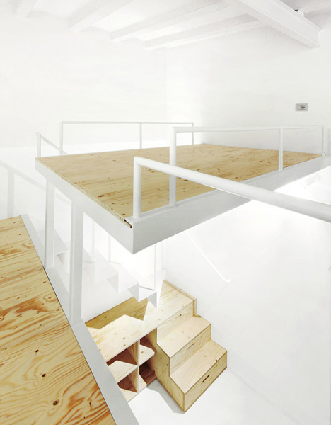 cost to renovate a kitchen cabinet knob split-level loft: suspended bedroom + under-stair storage