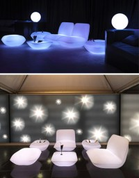 5 Light-Up Outdoor Furniture Sets Glow White at Night