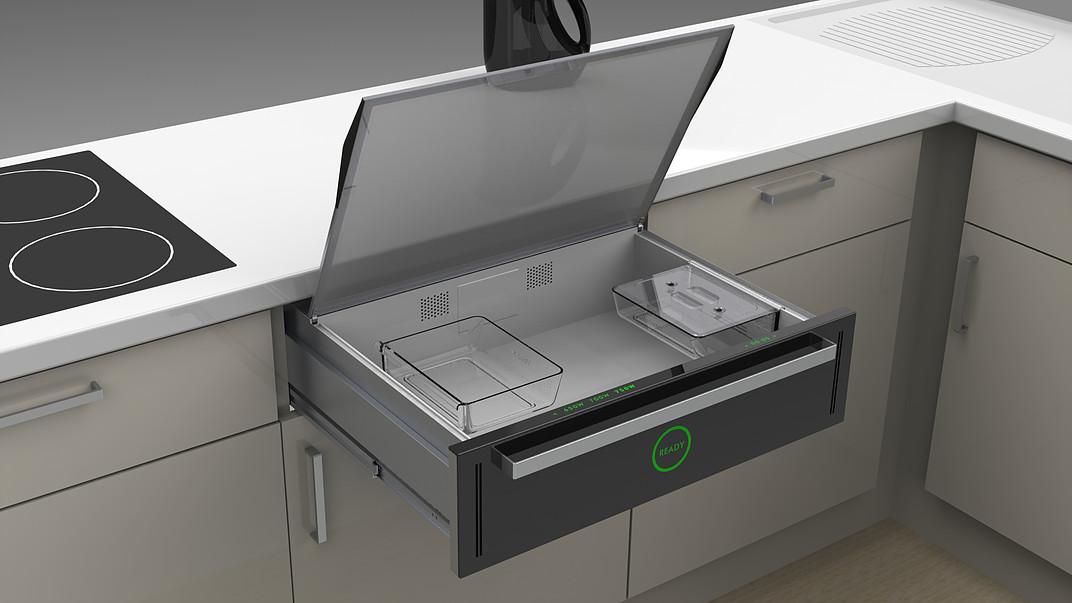 slide hide microwave in a drawer