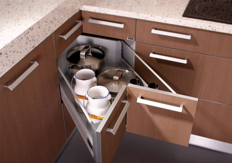 Corner Drawers 6 Solutions For Awkward Kitchen Spaces