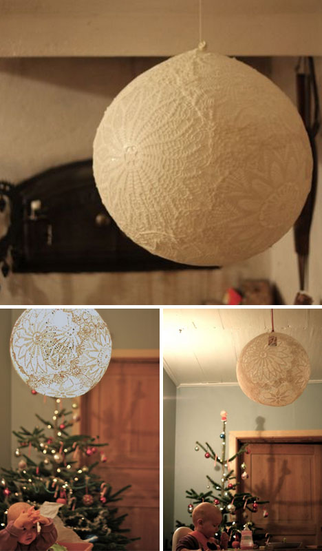 Diy Hanging Doily Lamp Tutorial Designs Amp Ideas On Dornob