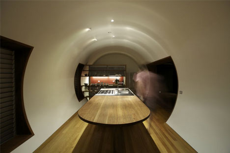 Prefab Parabolic Roofed Summer Home In A Cozy Cylinder