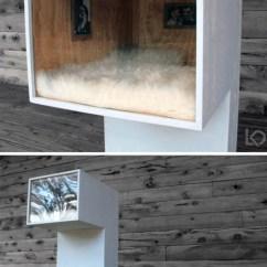 Prefab Outdoor Kitchens Farmhouse Kitchen Hardware Diy Cat House: Fashionable Minimalism For Feline Loft Living